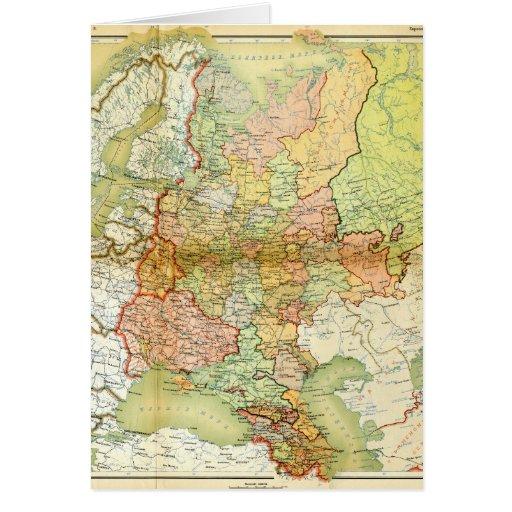 Mapa 1928 de União Soviética velha URSS Rússia Cartoes