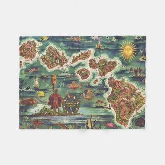 Mapa 1950 de Dole de Havaí Joseph Feher Cobertor De Velo