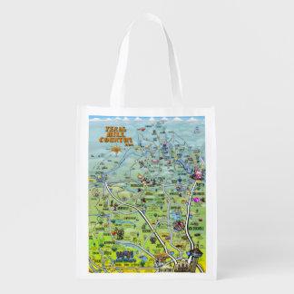 Mapa 2014 dos desenhos animados do país do monte sacola ecológica para supermercado