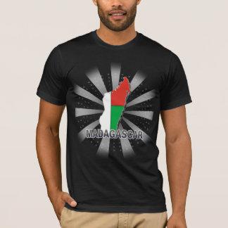 Mapa 2,0 da bandeira de Madagascar Camiseta
