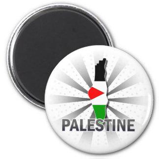 Mapa 2,0 da bandeira de Palestina Imas De Geladeira