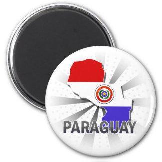 Mapa 2,0 da bandeira de Paraguai Ima