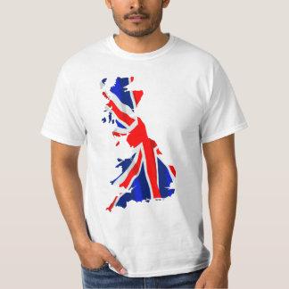 Mapa 2Side da bandeira de Inglaterra Camisetas