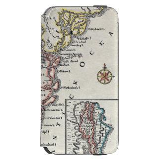 Mapa: America do Norte, C1700 Capa Carteira Incipio Watson™ Para iPhone 6