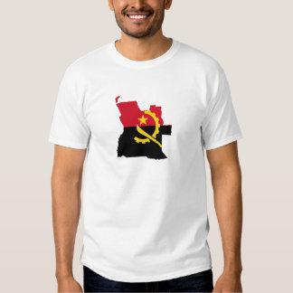 Mapa Angola Camisetas