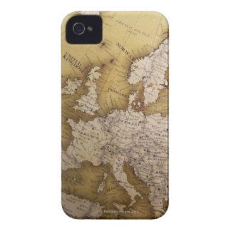 Mapa antigo de Europa. Mundo velho Capas Para iPhone 4 Case-Mate