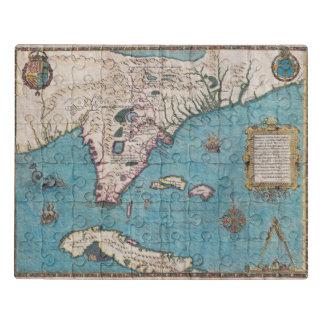 Mapa antigo de Florida e de Cuba