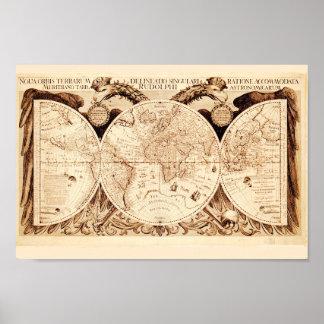 Mapa antigo de Gryphons Poster