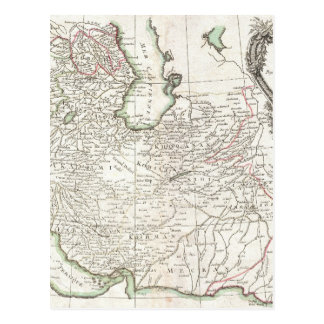 Mapa antigo de Persia Irã, de Afeganistão, & de Cartão Postal