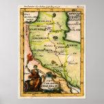 Mapa arménio de 1684 poster
