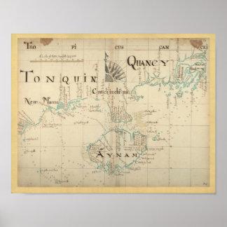 Mapa autêntico de 1690 piratas - tamanho maior nov posters