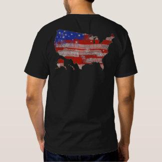 mapa azul vermelho dos EUA da bandeira dos Estados Camisetas