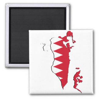 Mapa BH da bandeira de Barém Ímã Quadrado