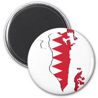 Mapa BH da bandeira de Barém Ímã Redondo 5.08cm