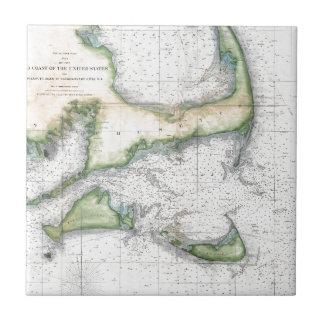 Mapa Cape Cod, Nantucket, Martha's Vineyard