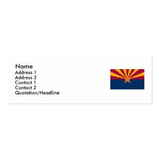 Mapa da arizona e bandeira do estado cartão de visita skinny