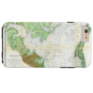 Mapa da avaliação de 1857 costas ou carta do rio capa tough para iPhone 6 plus