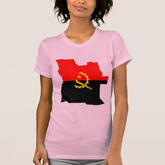 Mapa da bandeira de Angola Camiseta