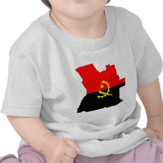 Mapa da bandeira de Angola sem redução Tshirt