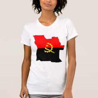 Mapa da bandeira de Angola sem redução Camisetas