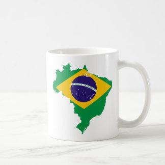 mapa da bandeira de Brasil Caneca