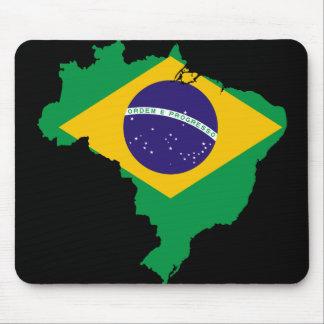 mapa da bandeira de Brasil Mouse Pad