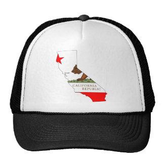 Mapa da bandeira de Califórnia Boné