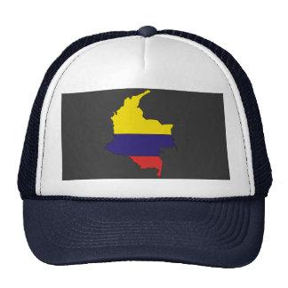 Mapa da bandeira de Colômbia Boné