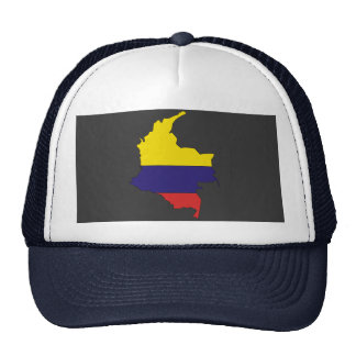Mapa da bandeira de Colômbia Bone
