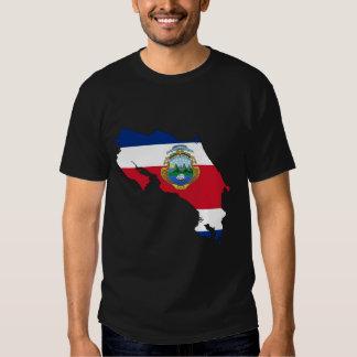 Mapa da bandeira de Costa Rica T-shirt