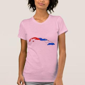 Mapa da bandeira de Cuba Camiseta
