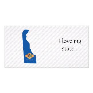 Mapa da bandeira de Delaware Cartão Com Foto