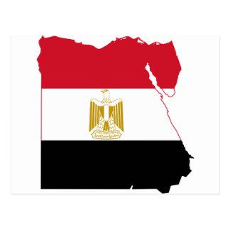 Mapa da bandeira de Egipto POR EXEMPLO Cartão Postal