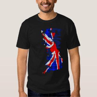 Mapa da bandeira de Inglaterra 02 T Camisetas