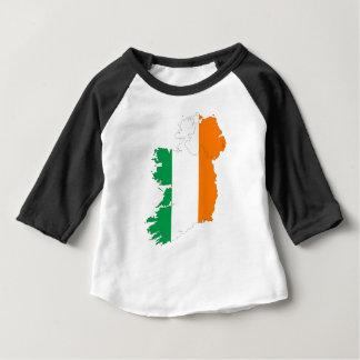 Mapa da bandeira de Ireland Camiseta Para Bebê