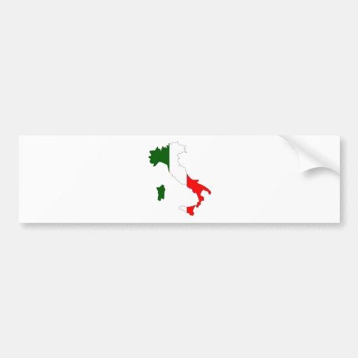 Mapa da bandeira de Italia sem redução Adesivo