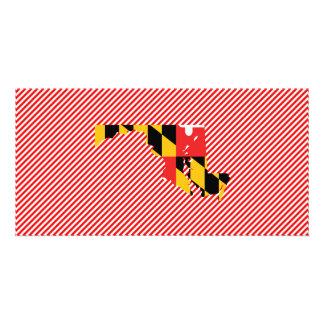 Mapa da bandeira de Maryland Cartão Com Foto