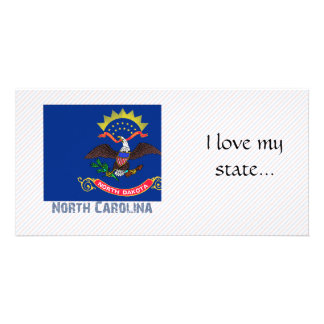 Mapa da bandeira de North Carolina Cartao Com Fotos
