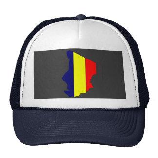 Mapa da bandeira de República do Tchad Boné
