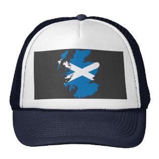 Mapa da bandeira de Scotland Boné