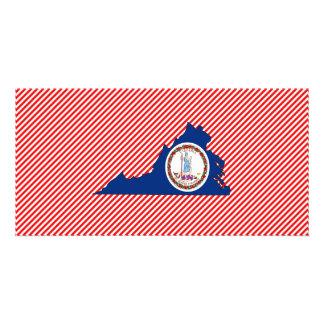 Mapa da bandeira de Virgínia Cartoes Com Fotos Personalizados