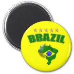 Mapa da bandeira do brasileiro de Brasil da bola d