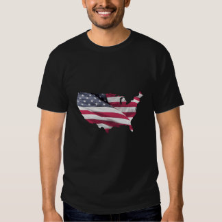 Mapa da bandeira dos EUA Camiseta