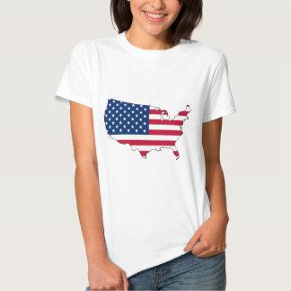 mapa da bandeira dos EUA T-shirt