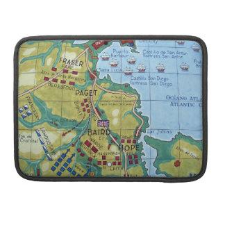 Mapa da batalha de Corunha Bolsas Para MacBook