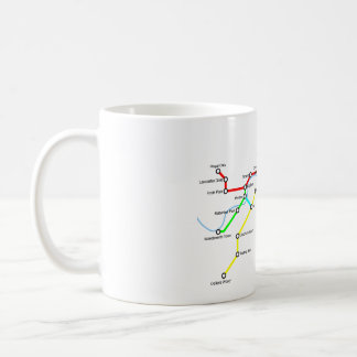 Mapa da bicicleta de Londres caneca de 11 onças