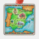 Mapa da espanha ornamento