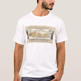 Mapa da estrada de ferro dos bens imobiliários de camiseta