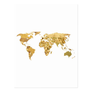 Mapa da folha de ouro cartão postal