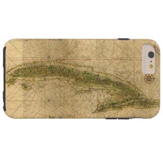 Mapa da ilha de Cuba por Joana Vinckeboons 1639 Capa Tough Para iPhone 6 Plus